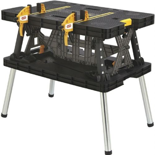 Keter Pro Series Portable Folding Work Table Bench With Clamps